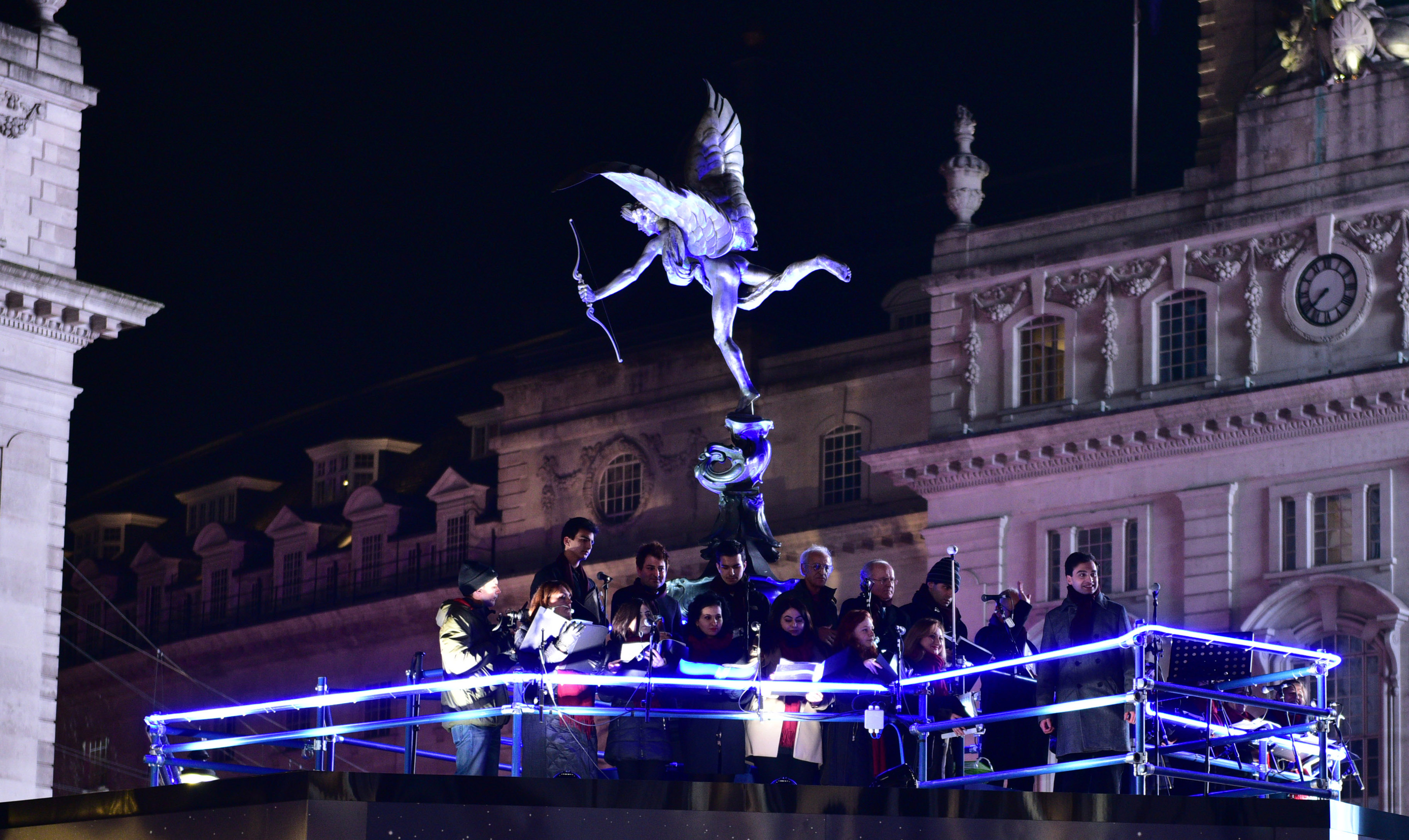Concert at Piccadilly Circus on 01 December 2016